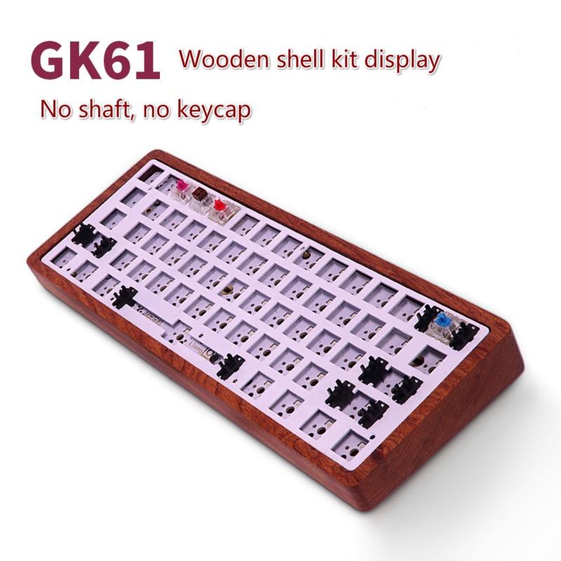 Gk61 (mesma marca gk64) teclado mecânico kit diy troca quente driver independente tyce-c interface gh60 rgb