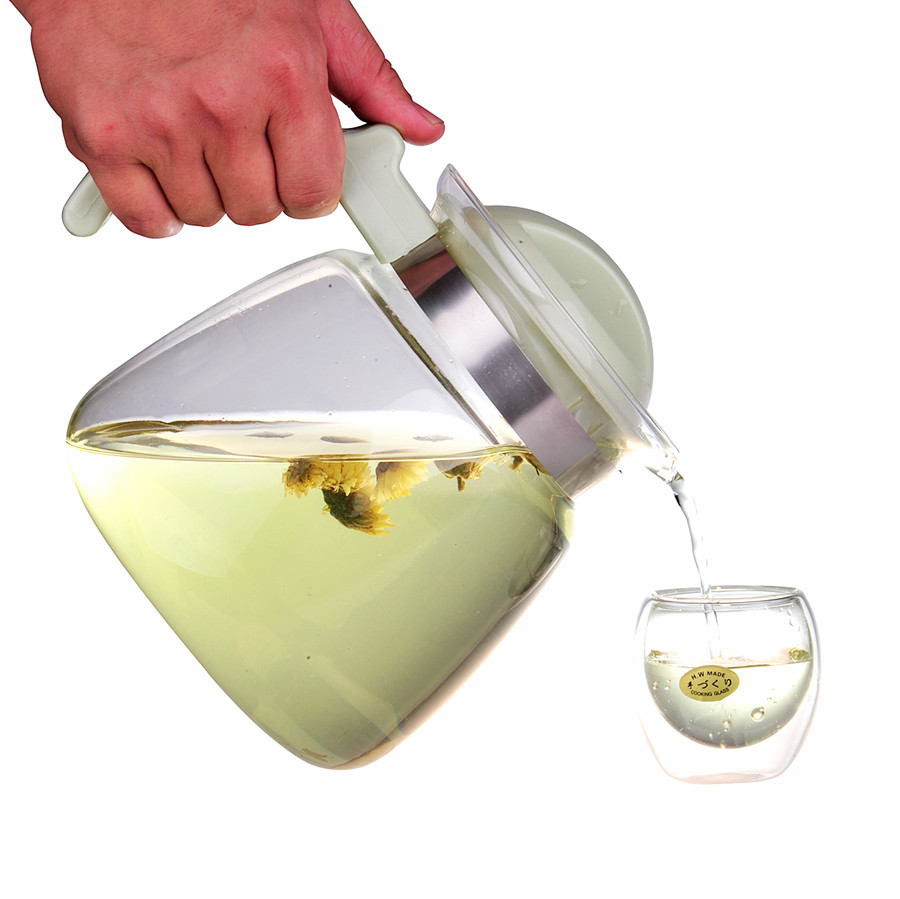 High temperature resistant glass kettle can burn cold water cold water cup teapot juice jug with large capacity high temperature resistant glass cool water kettle high capacity tea kettle juice pot 2l