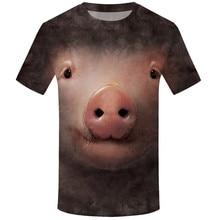 95272aaa1660 Divertido t camisetas de los hombres casuales de verano 3D cerdo imprimir  Camiseta de manga corta Camisetas de moda de 2019 cómo.