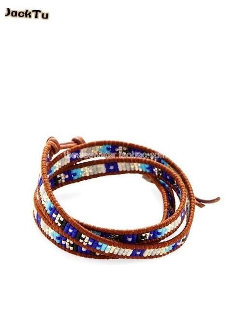 2017 JackTu multi color seed beads triple wrap bracelet