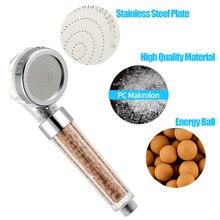 ZhangJi Bathroom Water Therapy Shower Anion SPA Shower Head Water Saving Rainfall Shower Filter Head High Pressure ABS Spray