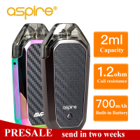 Presale Aspire AVP AIO Kit Vape 2ml Capacity Pod With 1.2ohm Nichrome Coil Built in 700mAh battery Electronic Cigarette Vapeador