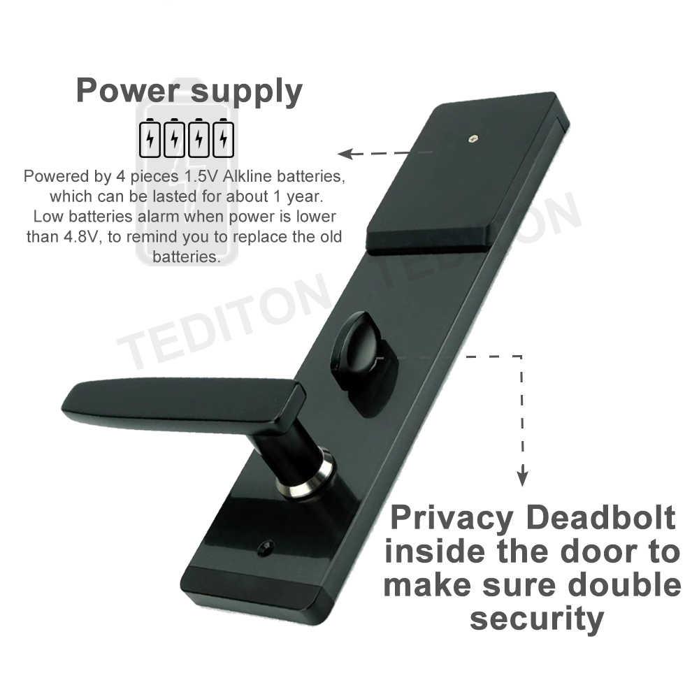 Безопасность электронный дверной замок, приложение wifi умный сенсорный экран блокировки, цифровой код клавиатуры Deadbolt для дома отель квартиры