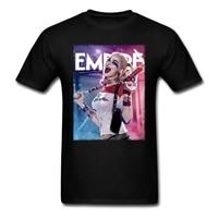 Movie Suicide Squad Harley Quinn Shirt Customized Man Cotton Tees Cheap 100% Cotton Men's T Shirts