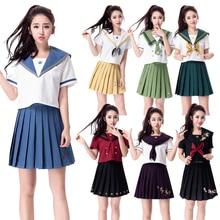 Touken ranbu en línea JK uniforme escolar japonés uniforme escolar niña  vestido marinero Trajes Tops y falda estilo Navy ropa de. 8c84f121041c