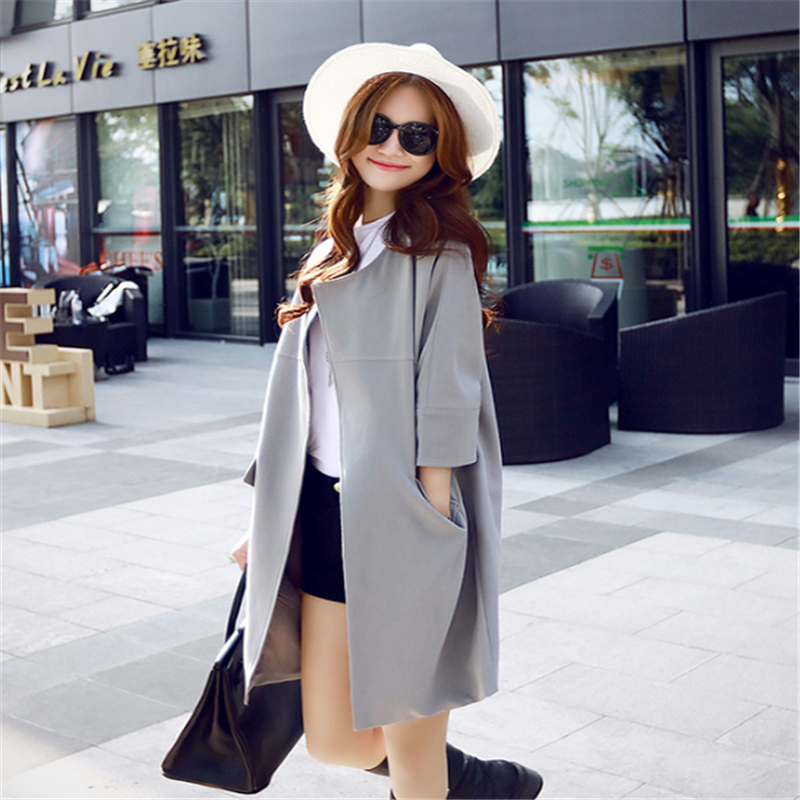Autumn New Outfit New Lady Windbreaker 200 pounds of loose leisure Solid Color coat Jacket TR033