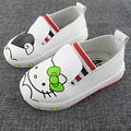 2017 New Cartoon Print Baby Girl Firstwalkers Kitty Slip on Lovely Cat Infant Shoes Toddler Girls Loafers Shoes Zapatos Ninas