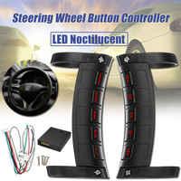 Universal Fernbedienung Auto Lenkrad Taste Fernbedienung Bluetooth DVD Navigation Taste Fernbedienung LED Wireless