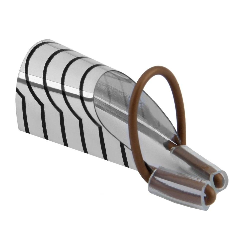 10 pcs Réutilisable Soins Des Ongles En Aluminium Prop Guide Formes Extension Outil Doigt Reste pour UV Gel Nail Extension Couleur Argent réglable