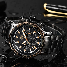 Relogio Masculino 2019 LIGE Men Watch Top Brand Luxury Business Watch Men Sport Watches Stainless Steel Large Dial Chronograph business watch gold dial quartz stainless steel wristwatch men large sport watches 2018 top brand luxury ultra thin men watches