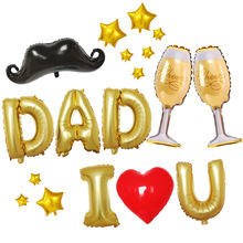 цена Father mother I love you set for Father mothers day party decoration 32 inch gold letter balloons Best Mom Ever foil balloons онлайн в 2017 году