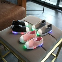 Children Shoes With Light Boys kids Shoes Canvas Sport Led Girls Princess Shoes Baby Boys Sneakers soft fashion