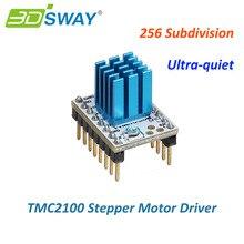 3 dsway 3D-принтеры Запчасти МКС TMC2100 V1.2 StepStick Шаговый двигатель модуль драйвера с радиатором ультра-тихий отличную производительность
