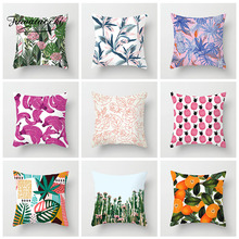 Fuwatacchi Fruit Painted Cushion Cover Plant Pineapple Banana Pillow Polyester Throw Sofa Home Decoration Pillowcase