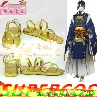 Free shipping! Touken Ranbu Online Mikadukimunechika Cosplay Shoes Boots Professional Handmade!Perfect custom for you!