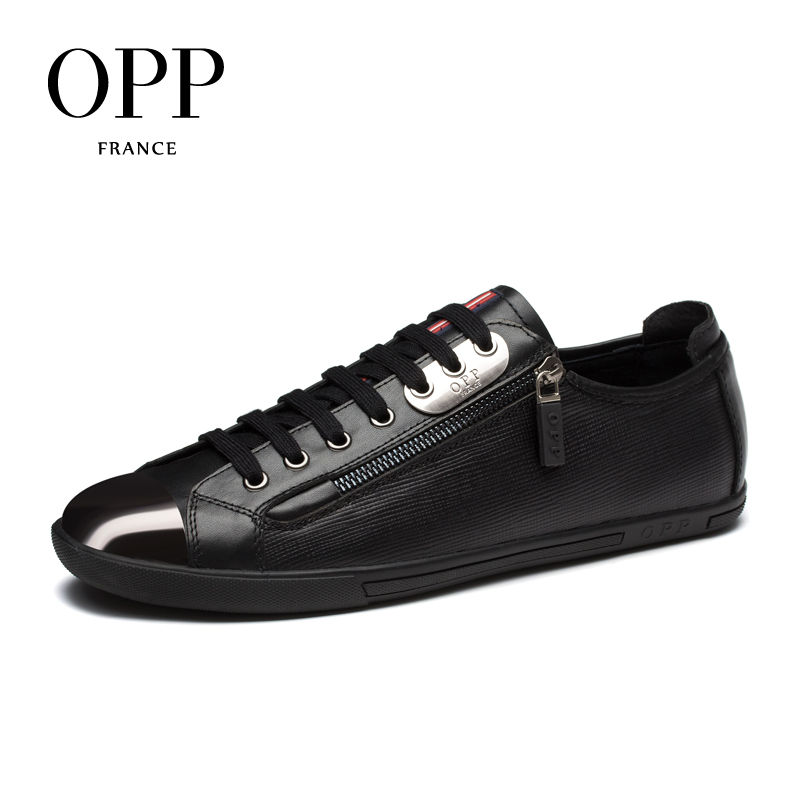 OPP Mens Loafers Fashion Low Leather Lace-up Casual Shoes, Genuine Leather Stitching Casual Men's Shoes Loafers for Men men leather shoes casual 2017 spring summer fashion shoes for men designer shoes casual breathable mens shoes comfort loafers
