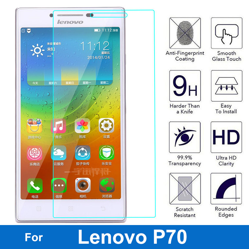 For Lenovo P70 P 70 Tempered Glass Screen Protector 0.26MM 9H Safety Protective Film On P70-T Dual Sim TD-LTE Pelicula De Vidro