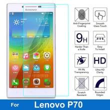 עבור Lenovo P70 P 70 מזג זכוכית מסך מגן 0.26 MM 9 H בטיחות מגן סרט על P70 T כפולה ה sim TD LTE película דה vidro
