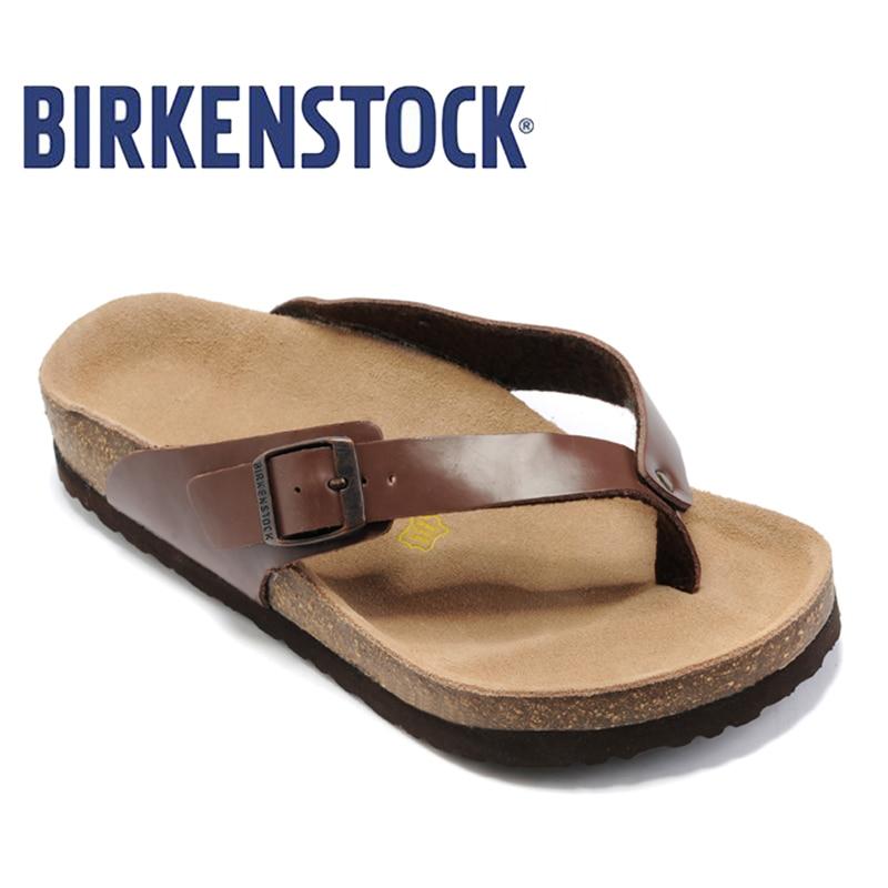 2018 Birkenstock Scarpe Da Uomo Sulla Spiaggia Presentazioni aziende produttrici giochi Sandali di Vibrazione di Estate Pantofole Da Uomo 808 Birkenstock Arizona Unisex Sandali di Cuoio
