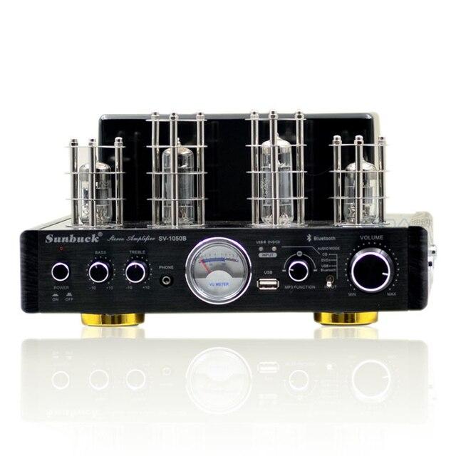 SV-1050B Vacuum valve tube 6P15 + 6N2+ LM1875T HiFi bluetooth amplifier 25W+25W headphone   MP3   USB  CD  DVD 220V