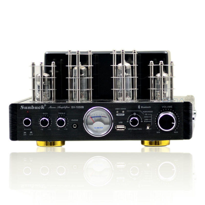 SV-1050B Vide valve tube 6P15 + 6N2 + LM1875T HiFi bluetooth amplificateur 25 w + 25 w casque MP3 USB CD DVD 220 v