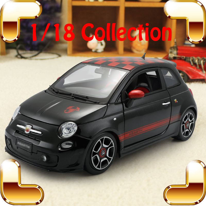New Arrival Gift Abarth 1/18 Model Metal Sedan Car Alloy Decoration Toys Vehicle Models Scale Simulation Big Collection Present new year gift 1965 sting ray 1 18 metal model car classic roadster alloy collection vehicle decoration simulation toys