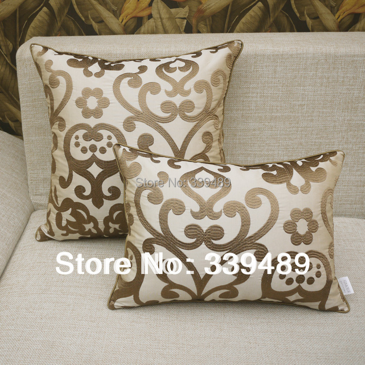 Buy Luxury Fashion Embroidered Ofhead Beige Cushion Cover Sofa Cushion  Pillow Kaozhen Core Big By Package From Reliable Sofa Rooms With Couch  Cushion Covers