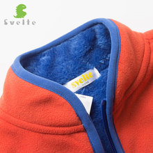 Svelte Brand Winter for Children Boys Girls Unisex Soild Color Lining Fur Thick Down Fleece Jackets Kids Outerwear Coat Clothes