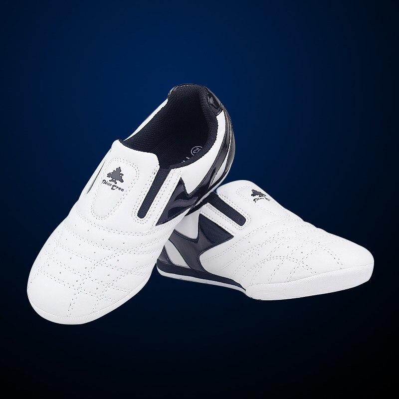 Обувь для занятий таэквондо в полоску, белая, дышащая, для занятий спортом