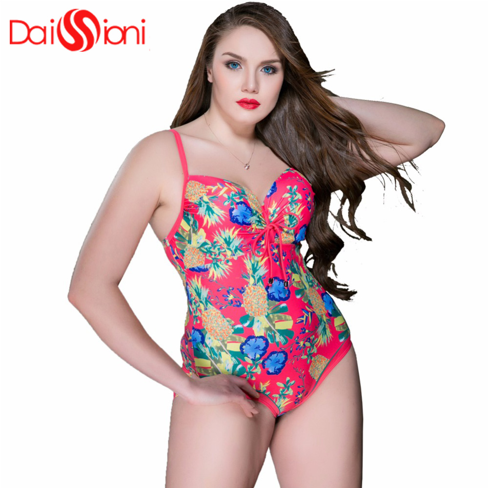 2019 Top Fashion Hot Sale Plus Size Swimwear Sexy One Piece Swimsuit Impressão de Cintura Alta Grande Copo Halter Maillot De bain Vindima