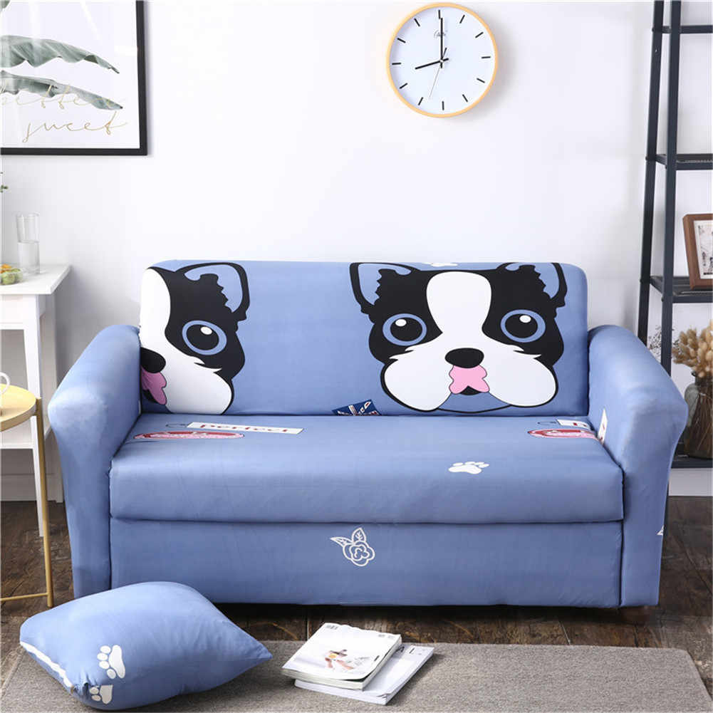 Pleasing Cute Big Dog Pattern Spandex Full Sofa Cover Sectional Couch Cover All Inclusive Sofa Case For Furniture Armchairs Home Decor Beutiful Home Inspiration Xortanetmahrainfo