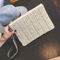 Simple summer 2016 fashion casual straw tote bag envelope bag clutch purse evening bag ladies free shipping