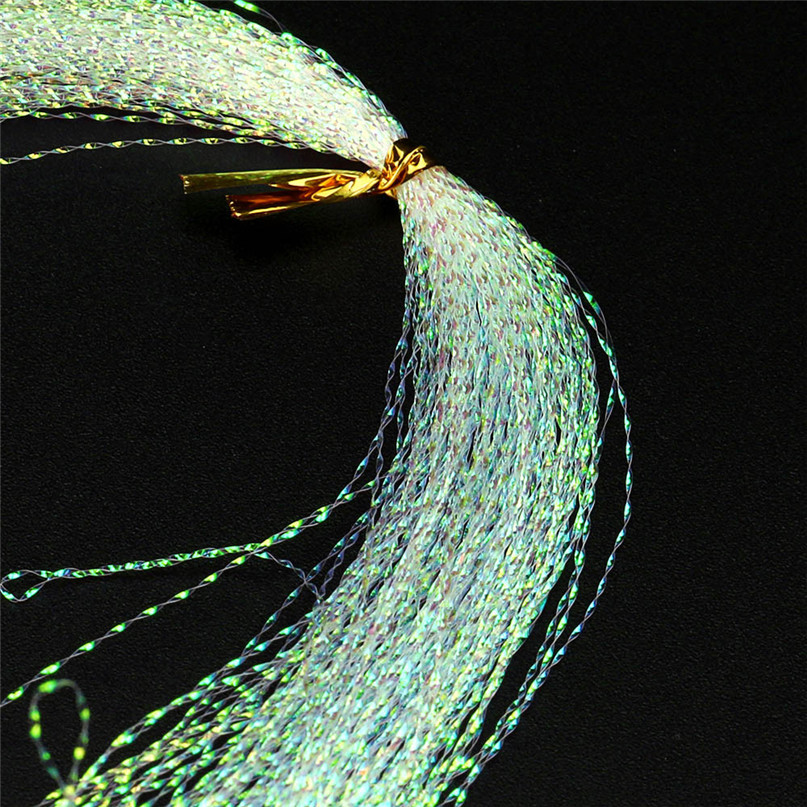Flat Disco Pearl Sparkle Flash Crystal Tinsel Fly Tying Material Saltwater Streamer Bait Fish Lure DIY Pink Yellow Green #2M04