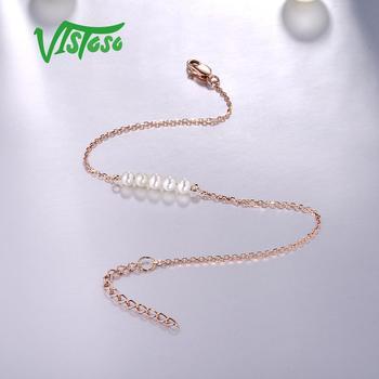 Rose Gold Freshwater White Pearl Bracelet 3
