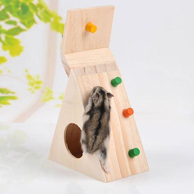 Multi-Function Хомяков Пэт Игрушки, Натуральные Деревянные Красочные Масштабирование Лестница Забавная Игрушка для Домашних Животных Крысы Хомячки Отличное Качество