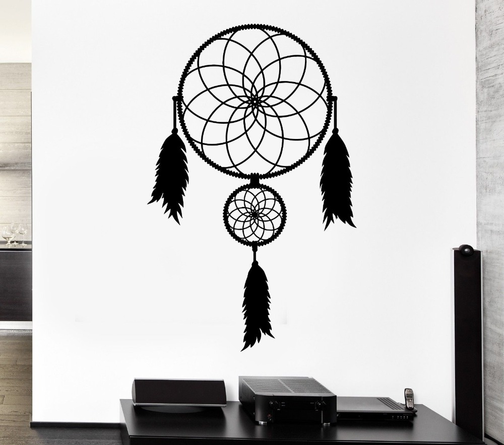 Aliexpress buy bedroom home talisman ornament wall sticker aliexpress buy bedroom home talisman ornament wall sticker dreamcatcher art design vinyl wall mural native american wall sticker y 802 from reliable amipublicfo Choice Image