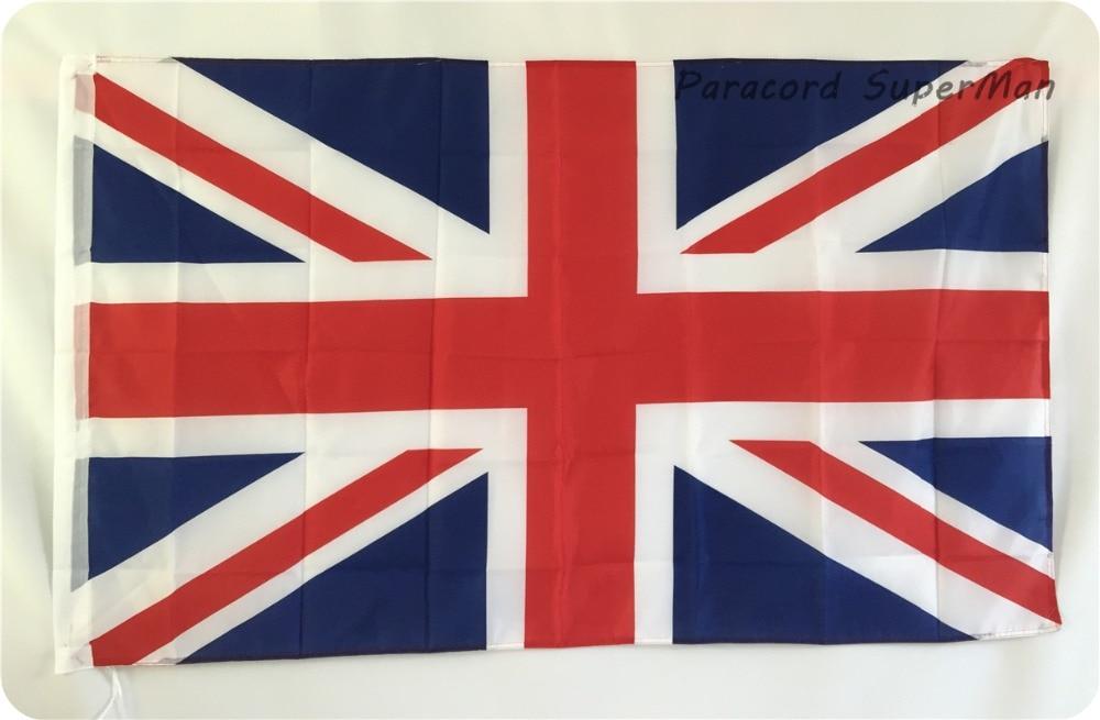 영국 잭 큰 깃발 영국 큰 영국 폴리 배너 플래그 5 X 3FT 무료 배송 영국 국가 폴리 에스터 깃발