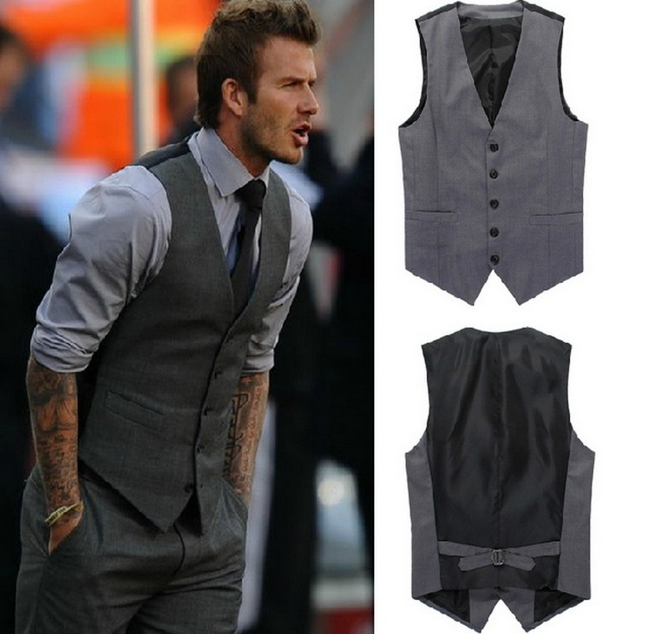 european style men 39 s fashion suit vest business slim gentleman waiters vest men suits blazer. Black Bedroom Furniture Sets. Home Design Ideas