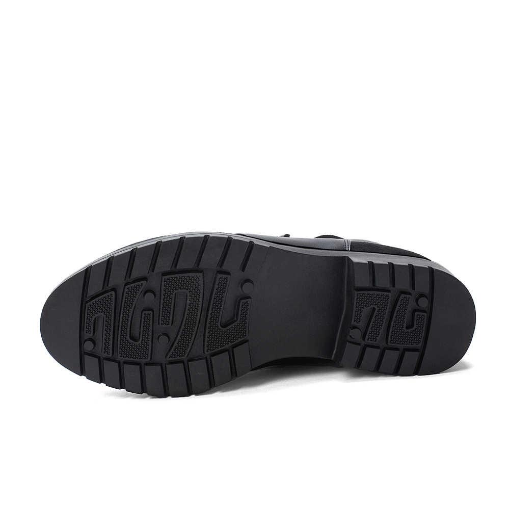 ผู้หญิงฤดูหนาว Elegant ข้อเท้าอุ่นรองเท้าผู้หญิง 2019 แฟชั่นเพิ่มขนสัตว์รองเท้าแพลตฟอร์มรองเท้าผู้หญิงส้นขนาดใหญ่ 32-43