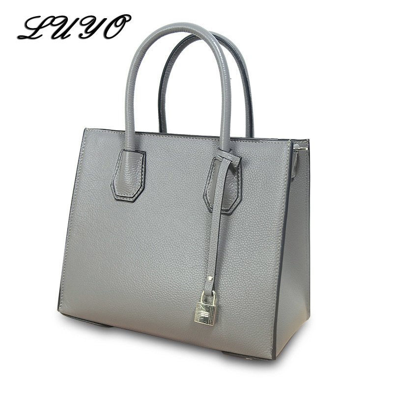 LUYO European Fashion Genuine Leather Luxury Handbags Women Crossbody Shoulder Bags Designer Tote Bag Female Michael Feminino high heel lace up bootie sandals