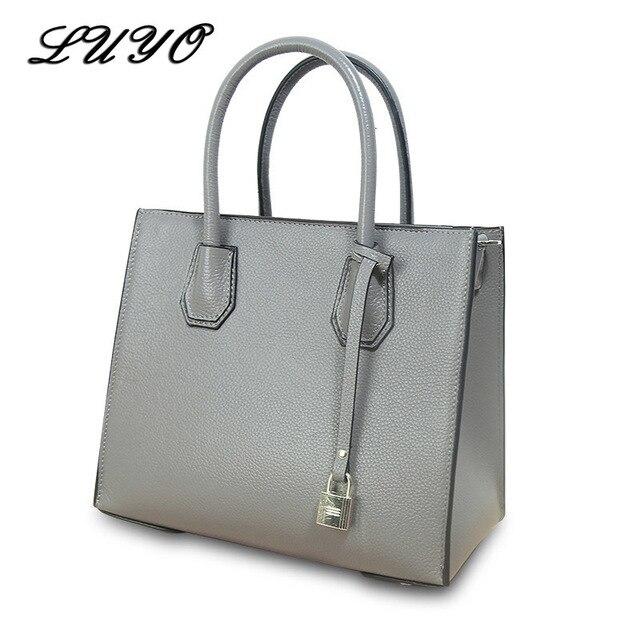 LUYO European Fashion Genuine Leather Luxury Handbags Women Crossbody Shoulder  Bags Designer Tote Bag Female Michael 32e1bc425d8b3