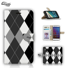 Luxury Tartan Check Pattern Painting Flip Wallet PU Leather Case For LG Nexus 5X 5.2 inch Stand + Card Slots Photo Frame