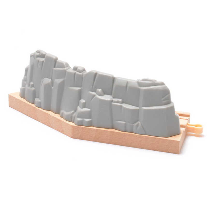 x069 gravel short curved track railway  Fitting game scene fit Electric car Brio wooden train developing boys