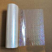 Lamina olografica trasparente rotto fiori modello di stampa a caldo stampa a caldo su carta o pellicola di trasferimento di plastica