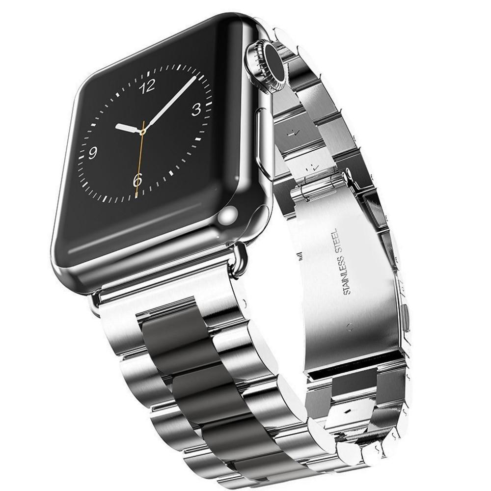 Bracelet à maillons Apple Watch Acier