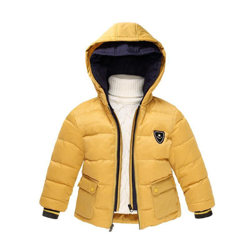 children down jackets fake two-piece down coat hooded winter clothes new baby boy Jacket children's clothing 3-7 year 2017 new authentic baby girl and boy sports style jacket children winter jacket style size 3 6 year old children s thin coat