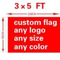 Envío Gratis xvggdg bandera personalizada 3x5FT 100D poliéster todo logotipo cualquier color pancarta Fans deporte banderas personalizadas