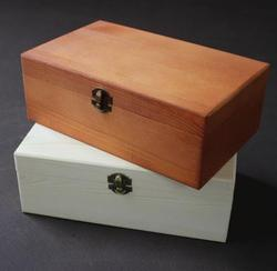 Rectangular clamshell wooden box wooden storage box jewelry box 25*15*9cm