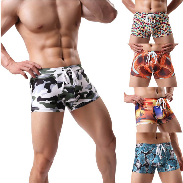 8314aaf40 New Mens Sexy Swimsuit Swimwear Men Swimming Shorts Men Briefs Beach Shorts  Sports Suits Surf Board Shorts Men Swim Trunks D#-in Body Suits from Sports  ...