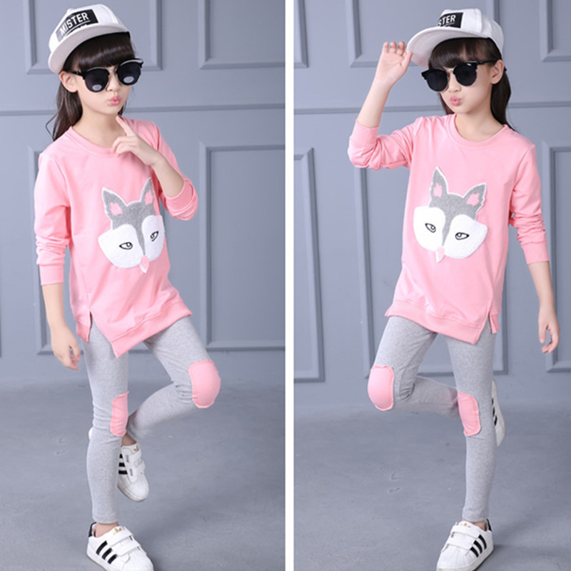 Ladies Garments Set Youngsters Ladies Garments Teenagers Clothes Cartoon Fox Head Tracksuit Costume Youngster Lengthy-sleeved Garments Set CLS214 Clothes Units, Low cost Clothes Units, Ladies Garments Set Youngsters Ladies...